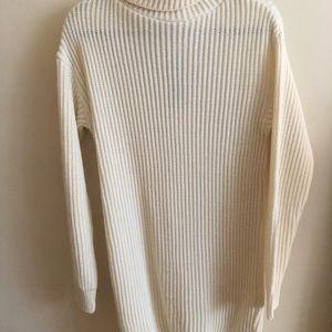 NWT NastyGal White Turtleneck Chunky Sweater Dress